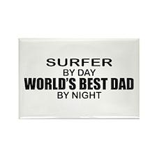 World's Greatest Dad - Surfer Rectangle Magnet