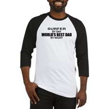 World's Greatest Dad - Surfer Baseball Jersey