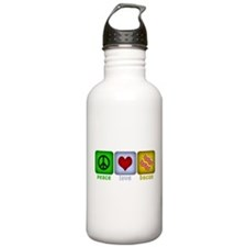 Peace Love and Bacon Water Bottle