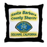 Solvang Police Throw Pillow