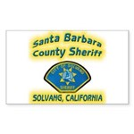 Solvang Police Sticker (Rectangle)