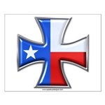 Iron Cross Texas 3D Small Poster