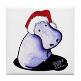Holiday Hippo Tile Coaster