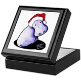 Holiday Hippo Keepsake Box