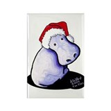 Holiday Hippo Rectangle Magnet (100 pack)