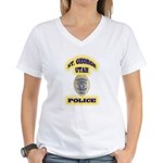 St George Police Women's V-Neck T-Shirt