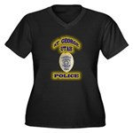 St George Police Women's Plus Size V-Neck Dark T-S