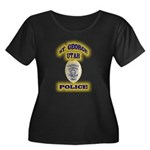 St George Police Women's Plus Size Scoop Neck Dark
