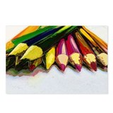 Colored Pencils Postcards (Package of 8)