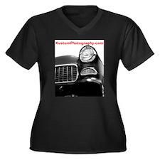 Funny 55 chevy Women's Plus Size V-Neck Dark T-Shirt