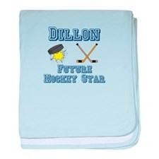 Dillon - Future Hockey Star baby blanket