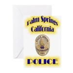 Palm Springs CA Police Greeting Cards (Pk of 20)