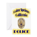 Palm Springs CA Police Greeting Card