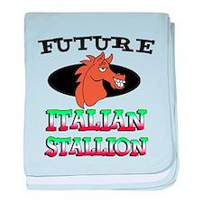 Future Italian Stallion baby blanket