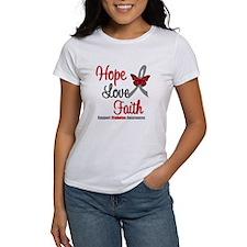 Diabetes HopeLoveFaith Tee