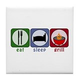 Eat Sleep Grill Tile Coaster
