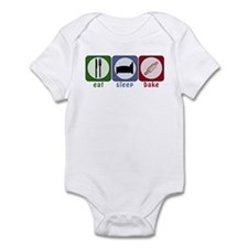 Eat Sleep Bake Infant Bodysuit