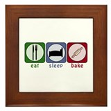 Eat Sleep Bake Framed Tile