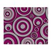 Pink Circles Throw Blanket