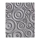 Metallic Circles Throw Blanket
