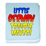 Little German Trouble Maker baby blanket