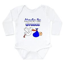 Stork Shirt Greek Baby Boy Long Sleeve Infant Body