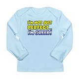 Not Just Perfect - Greek Long Sleeve Infant T-Shir