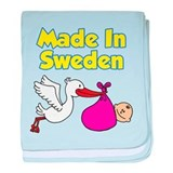 Made In Sweden Girl baby blanket