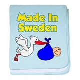 Made In Sweden Boy baby blanket