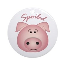 Funny Pig headed Ornament (Round)