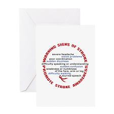 Stroke Signs & Symptoms Greeting Card