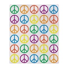 Peace Symbols Throw Blanket
