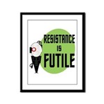 Resistance is Futile Framed Panel Print