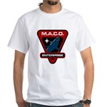 Enterprise MACO (large) White T-Shirt