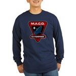 Enterprise MACO (large) Long Sleeve Dark T-Shirt