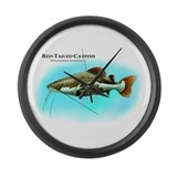 Red-Tailed Catfish Large Wall Clock