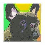 Brindle French Bulldog Tile Coaster
