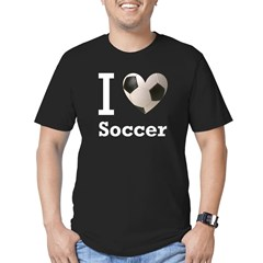 I Love Soccer Men's Fitted T-Shirt (dark)