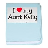 I Love Aunt Kelly baby blanket