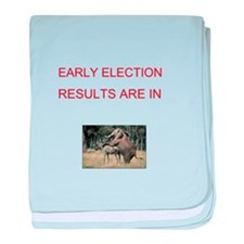 Cute Election results baby blanket