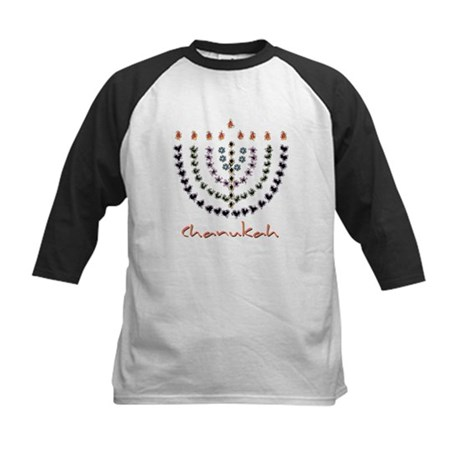 Chanukah Menorah Kids Baseball Jersey