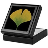 Fall Ginkgo Leaf Keepsake Box