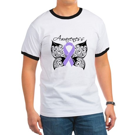 Butterfly Cancer Awareness Ringer T