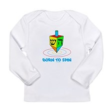 Dreidel Hanukkah Long Sleeve Infant T-Shirt