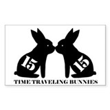 Unique Time traveling rabbits Decal