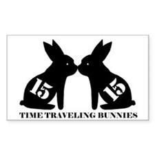 Cute Time traveling rabbits Decal