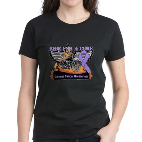 Cancer - Ride For a Cure Women's Dark T-Shirt