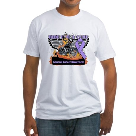Cancer - Ride For a Cure Fitted T-Shirt