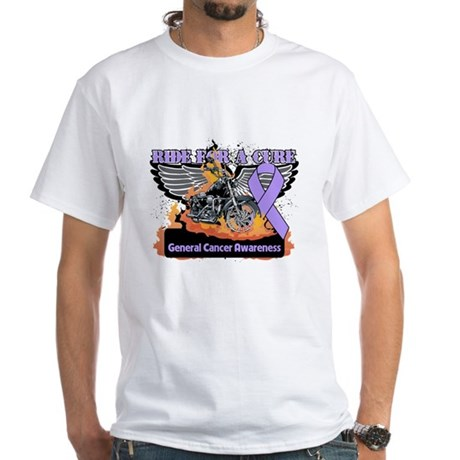 Cancer - Ride For a Cure White T-Shirt