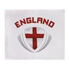 Soccer Crest ENGLAND red Throw Blanket